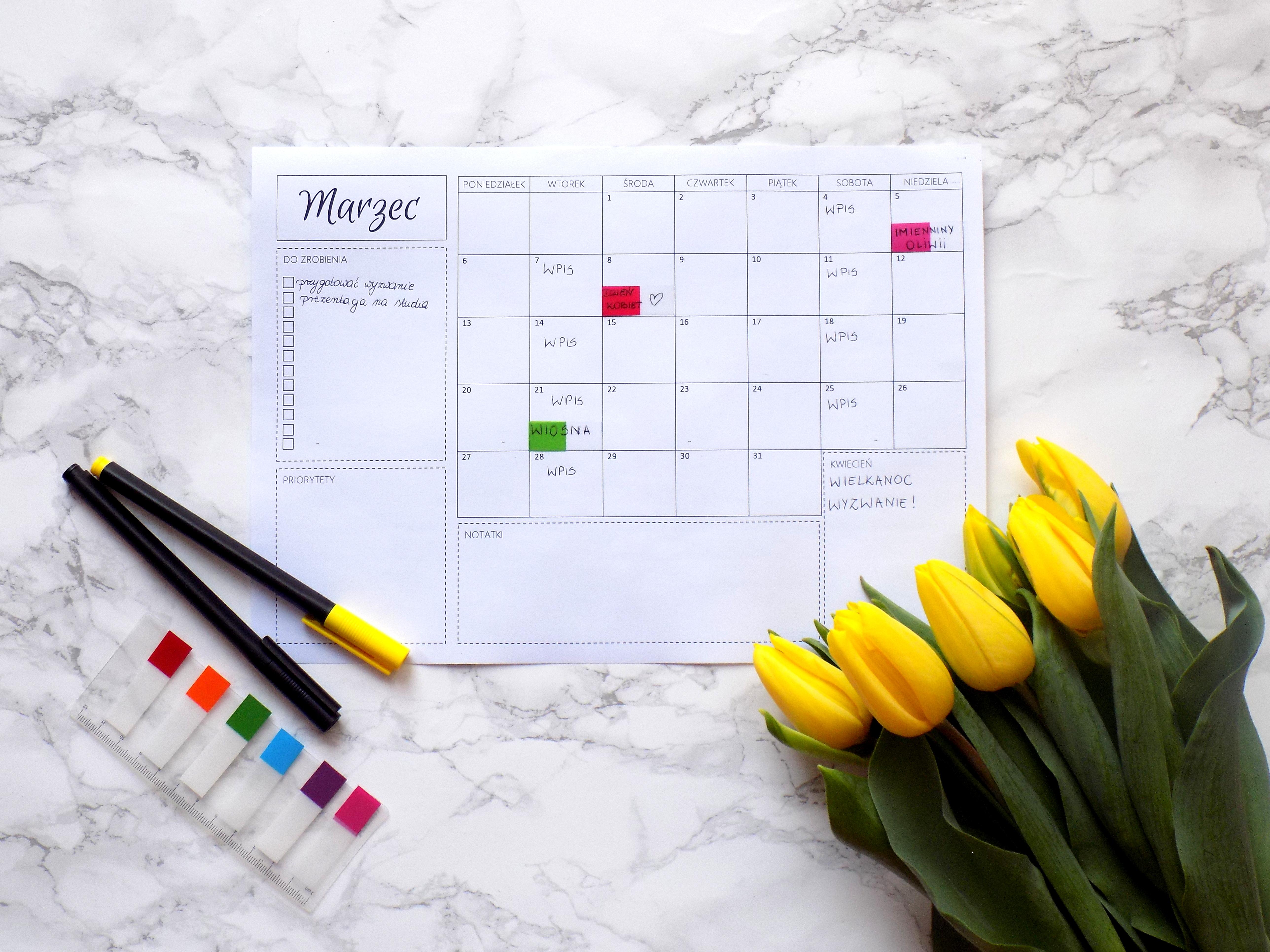marzec planner